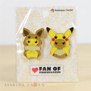 Pokemon Center Original FAN OF PIKACHU /& EEVEE Poncho Metal charm Key chain