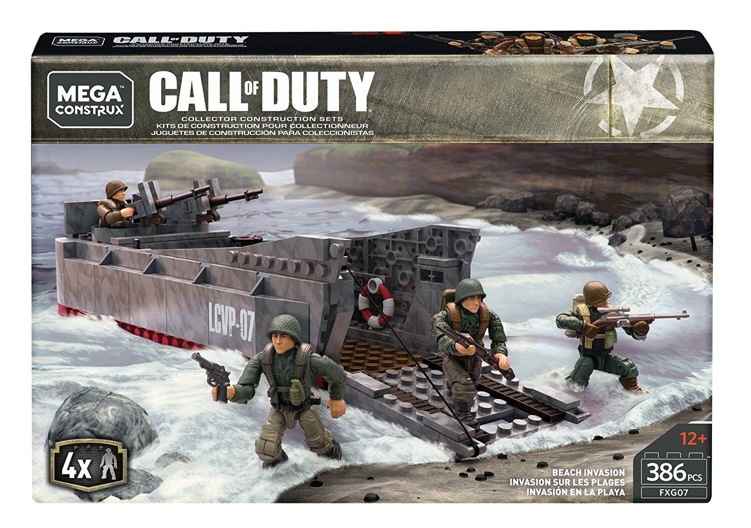 EXTREMELY RARE Mega Construx Call Of Duty WWII Beach Invasion