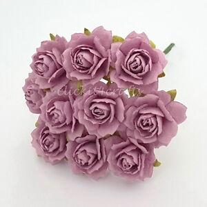 50 Mulberry Paper Flowers Wedding Headpiece Scrapbook Cards Basket Rose ZR5-121