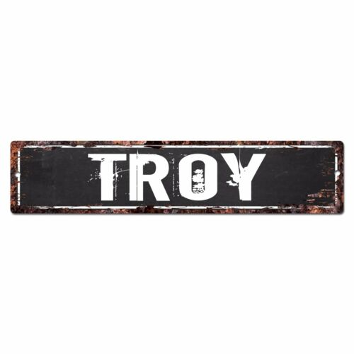 SFND0138 TROY MAN CAVE Street Chic Sign Home man cave Decor Gift