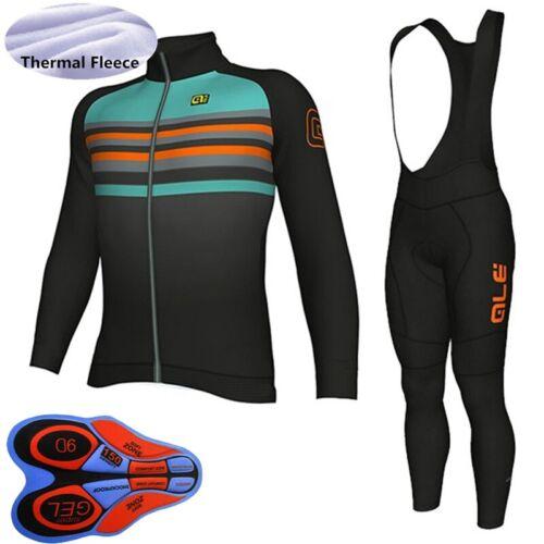 2020 Men bike cycling thermal fleece Jersey bib pants set winter bicycle uniform