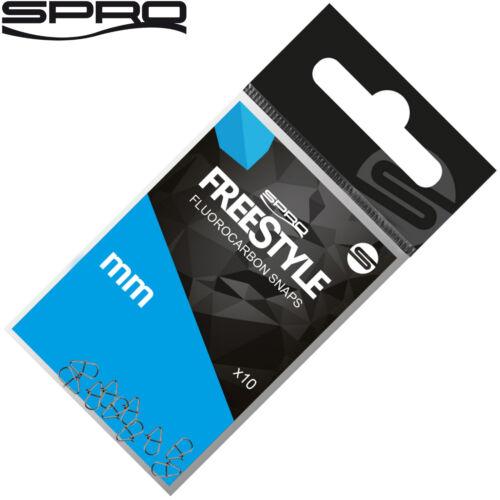 Spro Freestyle Reload Fluoro Snaps Spinn Snap 10 Einhänger zum Spinnfischen