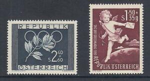 Austria-Sc-B277-B278-MLH-1952-Olympic-Rings-amp-Stamp-Day-VF