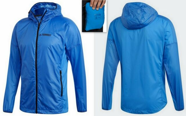 Men's adidas Terrex Agravic Hooded Alpha Shield Performance Jacket, Shock Blue
