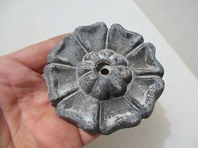 """Cast Lead Ornament Victorian Mould Tudor Rose Yorkshire Lancashire Flower 4/""""W"""