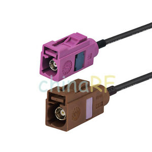 Fakra-female-jack-034-H-034-to-034-F-034-female-RF-pigtail-cable-RG174-15cm-for-GPS-Antenna