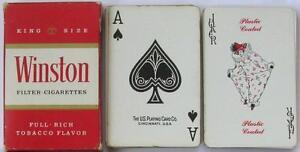 Mazzo-di-carte-da-gioco-poker-ramino-pubblicita-sigarette-Winston-anni-039-70-039-80