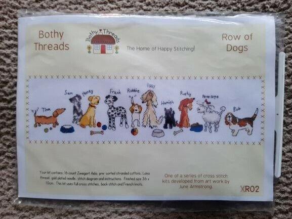Row of Dogs Bothy Threads Cross Stitch Kit