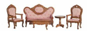 1:12 Scale Miniature Dijon Walnut Living Room Collection