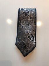 Black And White Mila Schon Silk Pattern Tie