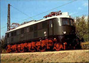 EISENBAHN-Motiv-Postkarte-E-Lok-Lokomotive-Schnellzug-Baureihe-218-VKM-Dresden