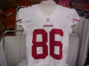 08eceb026 2012 NFL San Francisco 49ers Game Worn Team Issued Jersey Player  86 ...