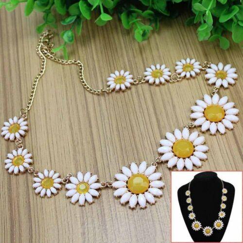 Fashion Vintage Daisy Flower Bib Chain Statement Women Girls Necklace Jewelry