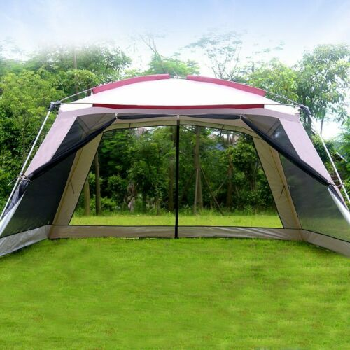 5-8 Person Ulterlarge 365*365*210CM High Quality Gazebo Sun Shelter Camping Tent