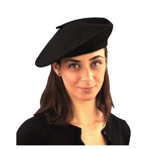 1df4886c3c572 Beatnik Scene Trendy Knit Black French Beret Hat Costume Accessory ...