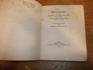 Book-Bibliography-of-the-Rubaiyat-of-Omar-Khayyam-Ambrose-Potter-L-E-1st-1929-HB