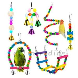 6-PCS-PACK-BEAKS-METAL-ROPE-SMALL-PARROT-BUDGIE-COCKATIEL-CAGE-BIRD-TOYS-AU