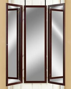 Image Is Loading Over The Door Mirror Dressing Room Tri Fold