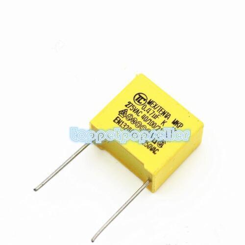 10pcs p = 15 mm 275V474K 470nF X2 polyproplene Safety Capacitor