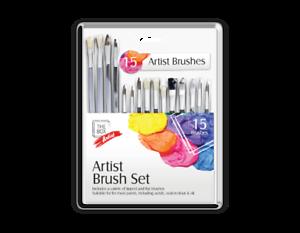 15 Artiste Peinture Brosses Set Rond Et Plat Astuce Brosse Peinture Maquillage-afficher Le Titre D'origine Des Friandises AiméEs De Tous