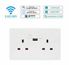 Wall Socket Smart WiFi Double USB Plug Voice Ewelink App