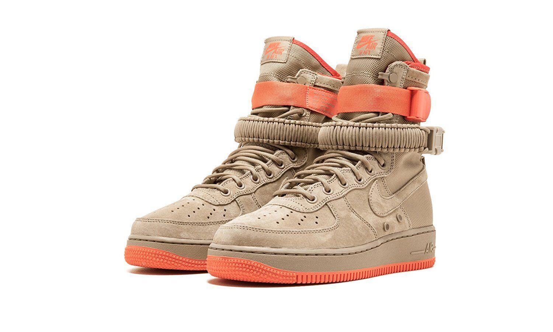 Nike SF Air Force 1 Khaki/Khaki-Rush Coral (864024 205)