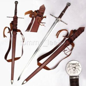 Full-Tang-1095-Carbon-Steel-Sharp-Blade-European-Medieval-Claymore-Long-Sword
