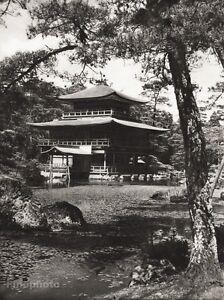 1934-Vintage-11x14-JAPAN-Kyoto-Kinkaku-ji-Buddhist-Temple-Art-H-G-PONTING