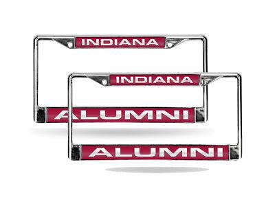 Indiana Hoosiers Ncaa Alumni Chrome Metal 2 Laser Cut