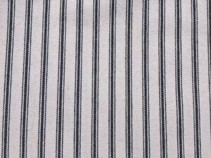 Image Is Loading Black White Herringbone Cotton Ticking Stripe Fabric