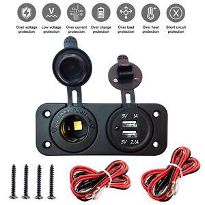 Dual-USB-Car-Lighter-Socket-Splitter-12V-Charger-Power-Adapter-Outlet
