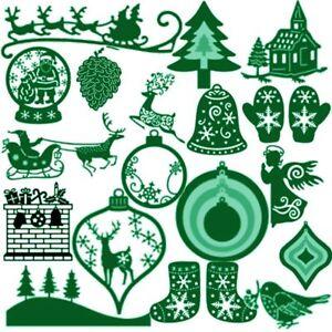 Weihnachten-Kartenherstellung-Praegeschablone-Scrapbooking-Schneidwerkzeuge
