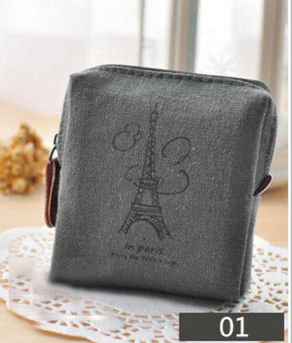 Zip Wallet Small Mini Bag Case Pouch Unisex Money Bags Women/'s Canvas Coin Purse