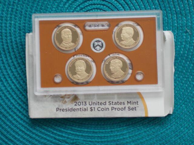 2013-S 4 pc. Presidential Dollar Set w/box (Proof)