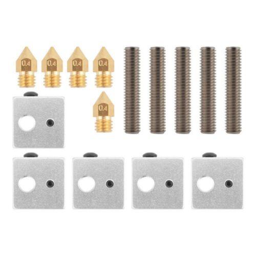 Throat Tube Brass Extruder Nozzle Heater Block For MK8 Makerbot 3D Printer US.
