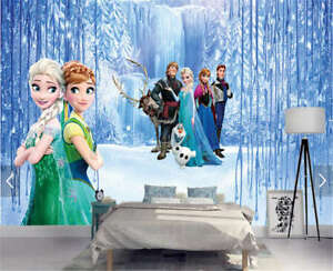 Sweet Cute Frozen 3D Full Wall Mural Photo Wallpaper Printing Home
