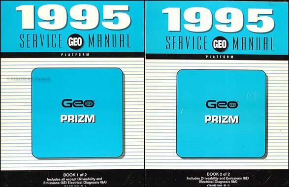 1995 Geo Prizm Shop Manual Set 95 Original Repair Service Books Oem 2 Volumes