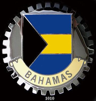 CAR GRILLE EMBLEM BADGES - BAHAMAS(FLAG)