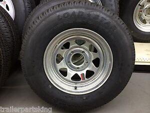 14 Radial Loadstar Boat Trailer Galvanized Spoke Rim Tire Combo