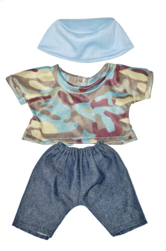 """TOP AND HAT  DOLL OUTFIT   FOR 10/""""  LOTS TO LOVE Baby  Doll BOY JEANS"""