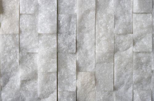 Brillant Blanc vrai marbre Split visage Mosaïque Mosaïques £ 29.99 par M Réduit!!