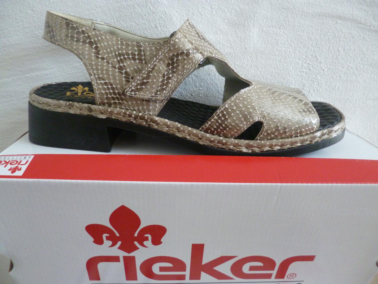 Rieker grau Krokoleder Damen Sandale Sandalette grau Rieker multi Krokoleder e07edc