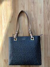 9e02e319d22 Calvin Klein Womens CK Logo Zip Top Tote Handbag Shoulder Bag - New H8ABJ6UW