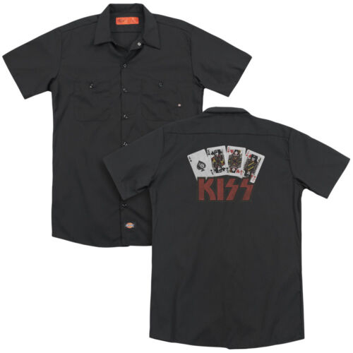 KISS Rock Band CARDS Licensed Adult Dickies Work Shirt All Sizes