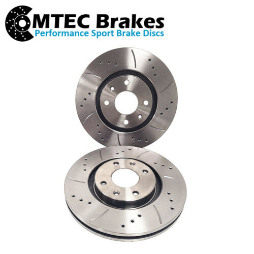 Citroen C4 Grand Picasso 1.6 1.8 06-14 Drilled Grooved Front Brake Discs