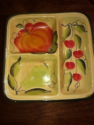 Made in Italy divided serving plate tray nut candy dish