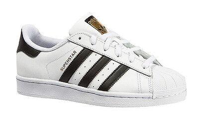 adidas superstar gs white black foundation junior