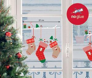 Xmas fenstersticker weihnachtssocken nikolaus advent weihnachten fensterfolie ebay - Fensterfolie weihnachten ...