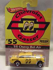 Hot Wheels Custom '55 CHEVY BEL AIR GASSER Mooneyes Real Riders Die Cast 1/64