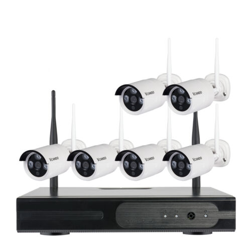 8CH Home Outdoor Wireless Security System CCTV Kit Selectable Camera Hard Drive